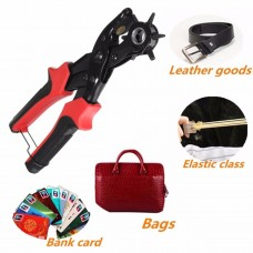 6 Sized Heavy Duty Leather Hole Punch Hand Pliers Belt Holes Punches Maker Tool