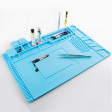 DANIU 45x30cm Magnetic Heat Insulation Silicone Pad Desk Mat Maintenance Platform with Magnetic Section  for BGA Soldering Repair Station